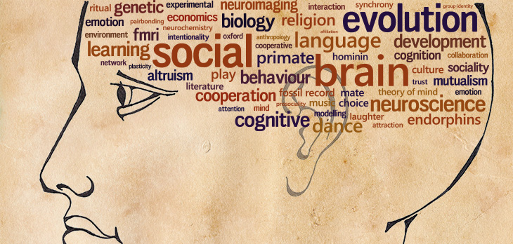 """The Social Brain"", drawn by Bronwyn Tarr and designed in collaboration with Rafael Wlodarski."